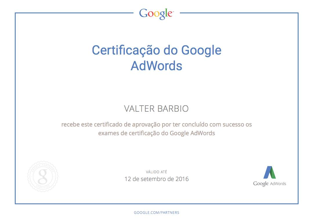 Google Adwords Certificado