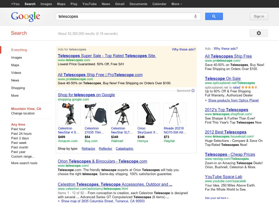 Google Shopping Web Empresas PT